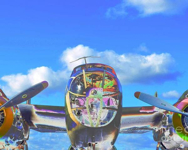 North American B-25j Mitchell Poster featuring the photograph B-25j Jazzed by Lynda Dawson-Youngclaus