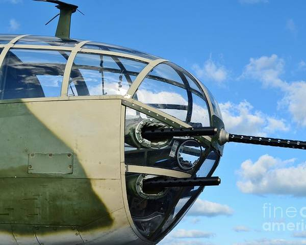 North American B-25j Mitchell Poster featuring the photograph B-25j Nose by Lynda Dawson-Youngclaus