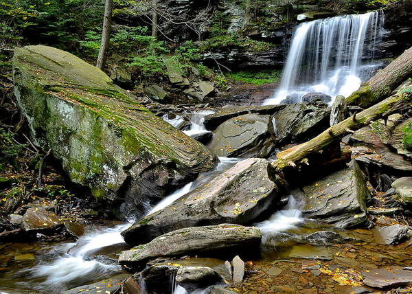 B Poster featuring the photograph B Reynolds Falls by Frozen in Time Fine Art Photography