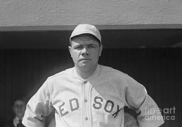Babe Ruth 1919 Poster featuring the photograph Babe Ruth 1919 by Padre Art
