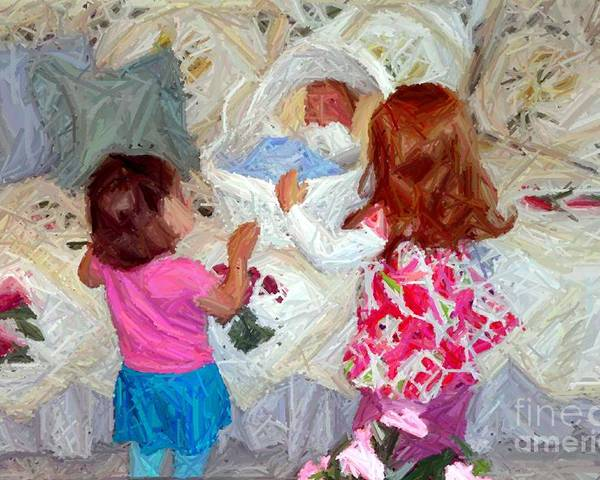 Children Poster featuring the photograph Baby Dolls by RL Rucker