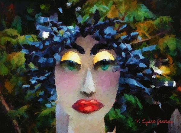 Abstract Poster featuring the painting Bad Hair Day by Lynne Jenkins