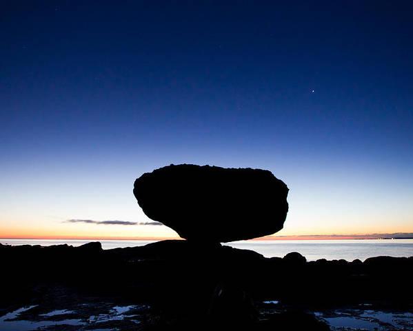 Balancing Rock Poster featuring the photograph Balancing Rock Sunrise by Brandon Broderick