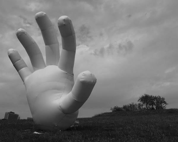 Hand Poster featuring the photograph Balloon Hand by Nina Mirhabibi