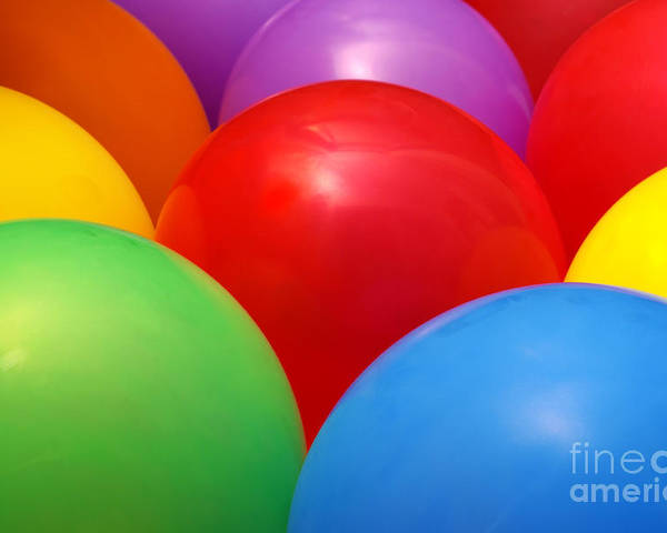 Background Poster featuring the photograph Balloons Background by Carlos Caetano