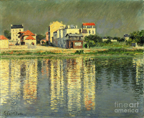 Bord De La Seine A Argenteuil Poster featuring the painting Banks Of The Seine At Argenteuil by Gustave Caillebotte