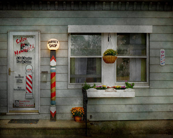 Hdr Poster featuring the photograph Barber - Belvidere Nj - A Family Salon by Mike Savad