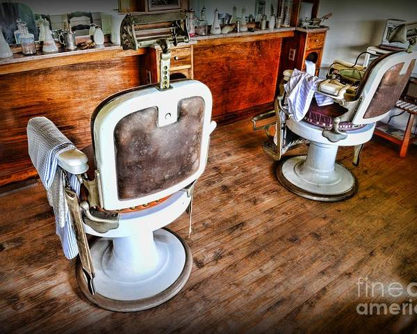 Barber - The Barber's Chair Poster featuring the photograph Barber - The Barber Shop 2 by Paul Ward