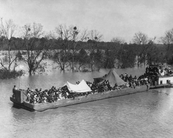 History Poster featuring the photograph Barge Loaded With Poor African American by Everett