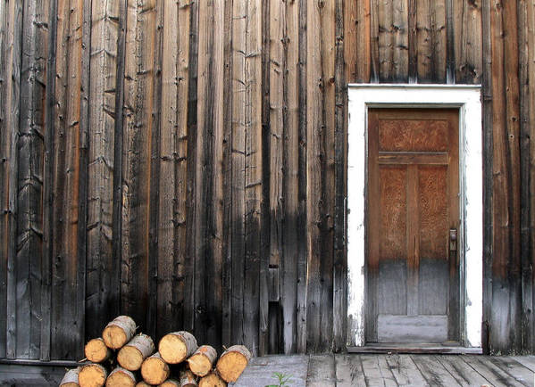 Firewood Poster featuring the photograph Barkerville Back Porch by Calvin Wray