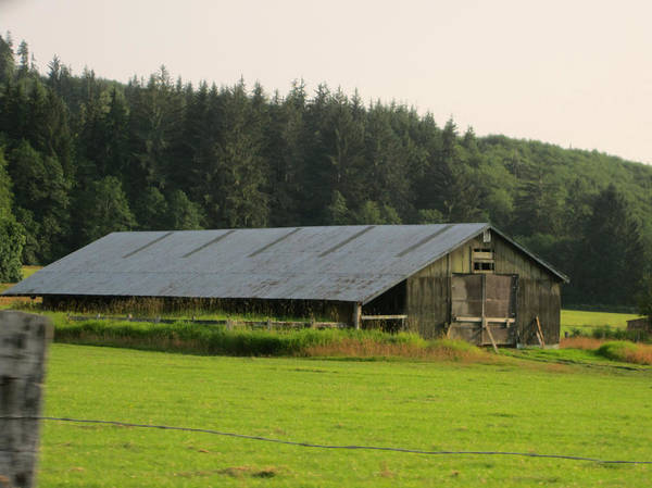 Nice Barn Poster featuring the photograph Barn And Barbwire by Kym Backland