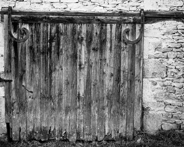 Black And White Poster featuring the photograph Barn Door by Georgia Fowler