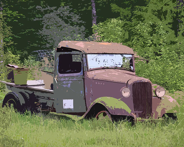 Chevy Truck Poster featuring the photograph Barn Fresh Pickup by Steve McKinzie