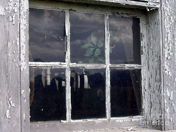 Window Poster featuring the painting Barn Window by Rick Praskac