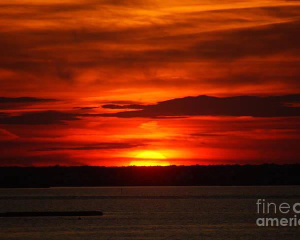 Sunset Poster featuring the photograph Barnegat Bay Sunset by Tessa Murphy