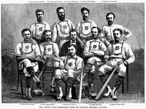 1874 Poster featuring the photograph Baseball: Canada, 1874 by Granger