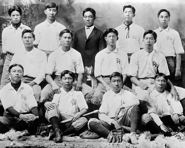 1910s Poster featuring the photograph Baseball. Chinese-american Baseball by Everett
