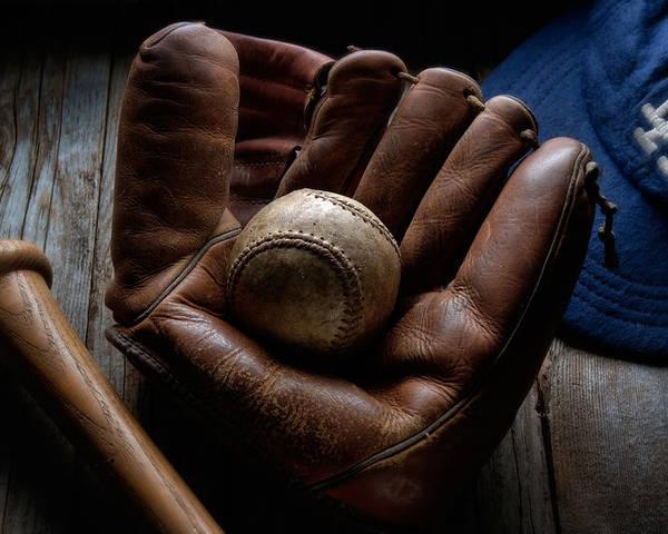 Baseball Poster featuring the photograph Baseball Glove by Bob Nardi