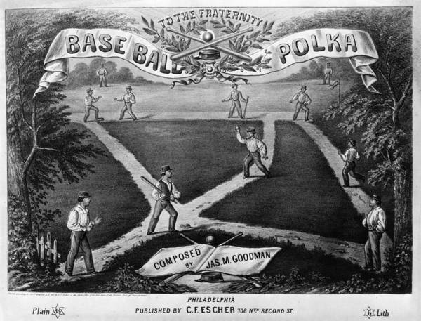 1867 Poster featuring the photograph Baseball Polka, 1867 by Granger