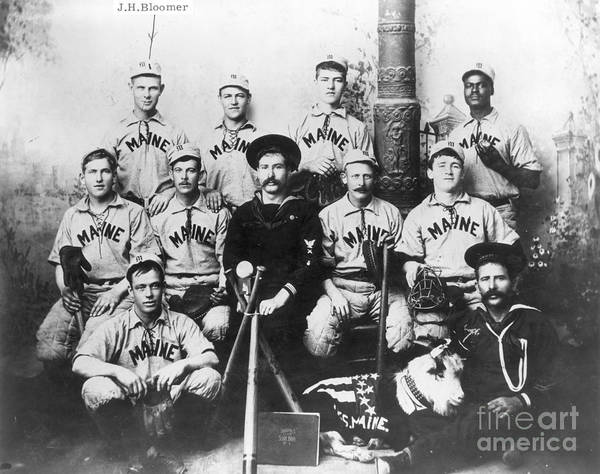 1898 Poster featuring the photograph Baseball Team, C1898 by Granger
