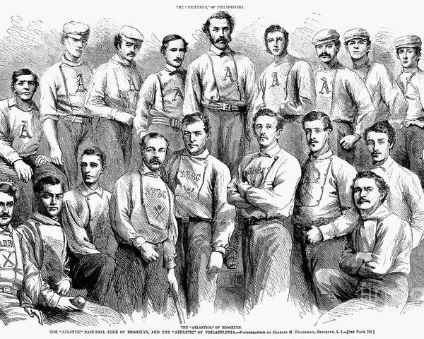 1866 Poster featuring the photograph Baseball Teams, 1866 by Granger