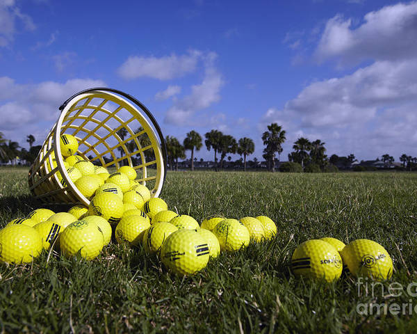 Balls Poster featuring the photograph Basket Of Golf Balls by Skip Nall