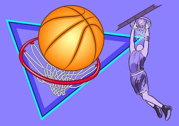 Basketball Poster featuring the digital art Basketball by Erasmo Hernandez