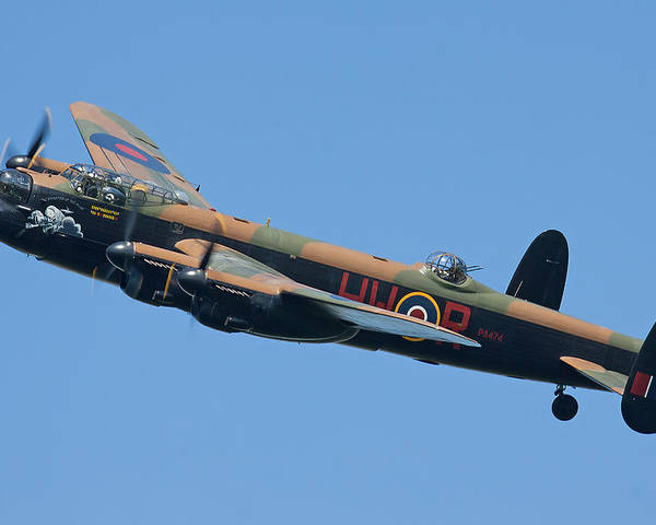 Lancaster Bomber Poster featuring the photograph Bbmf Lancaster Bomber 2 by Ken Brannen