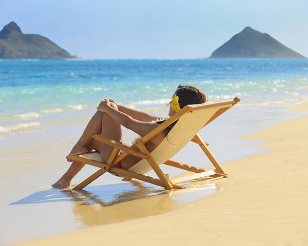 Attractive Poster featuring the photograph Beach Lounger II by Tomas del Amo