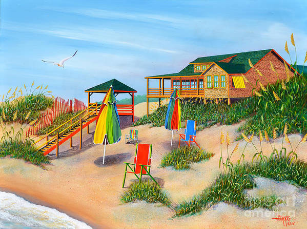 Seascapes Poster featuring the painting Beach Vibes by Hugh Harris