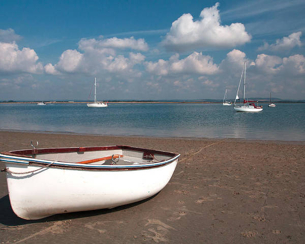 Boat Poster featuring the photograph Beached by Shirley Mitchell