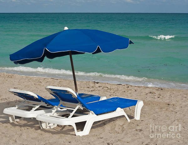 Florida Poster featuring the photograph Beachtime by Barbara McMahon