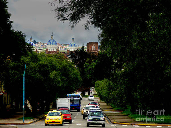 Rustic Poster featuring the photograph Beauty Of Avenida Solano In Cuenca by Al Bourassa