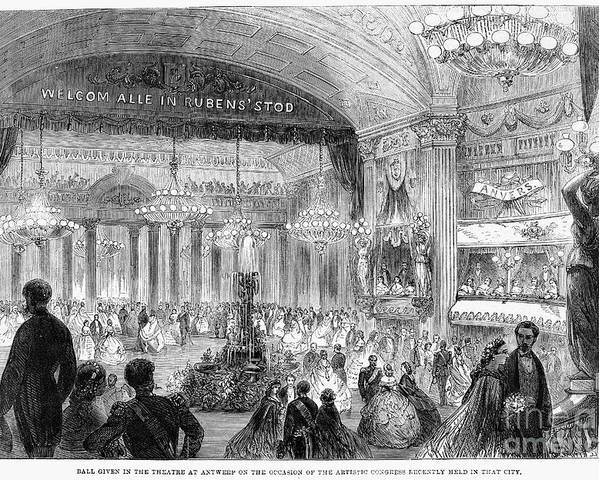 1861 Poster featuring the photograph Beaux Arts Ball, 1861 by Granger