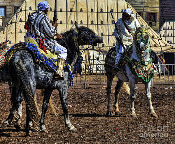 Morocco Poster featuring the photograph Berbers Morocco by Chuck Kuhn