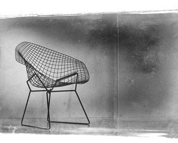Bertoia Diamond Chair Poster Featuring The Photograph Bertoia Diamond Chair  By David Ridley