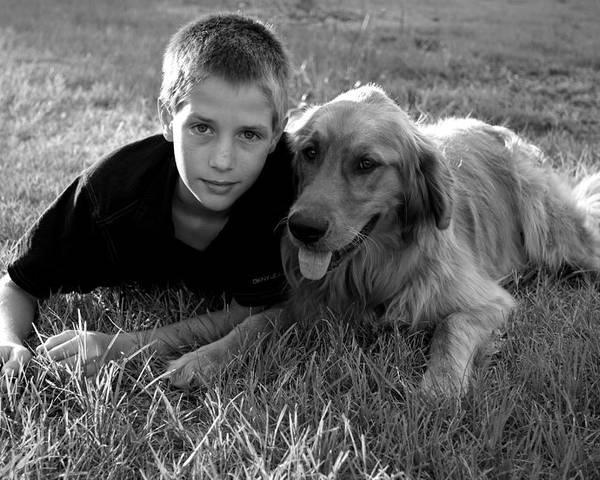Boy Poster featuring the photograph Best Friends by John Pierce Jr