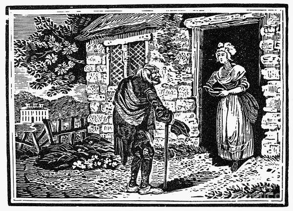 19th Century Poster featuring the photograph Bewick: Beggar by Granger