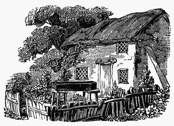 19th Century Poster featuring the photograph Bewick: Rural House by Granger