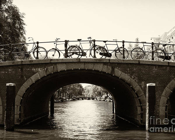 Bicycles Poster featuring the photograph Bicycles Of Amsterdam by Leslie Leda