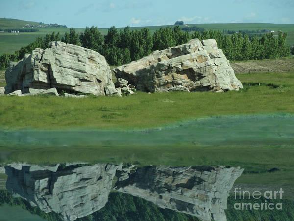 Al Bourassa Poster featuring the photograph Big Rock Reflection by Al Bourassa