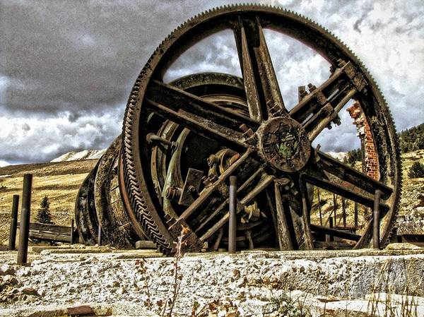 Wheels Poster featuring the photograph Big Wheels by Christina Perry
