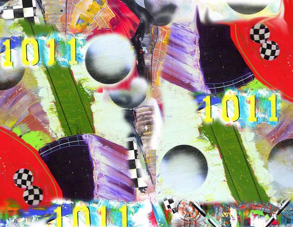 Art Poster featuring the digital art Binary Jitter by David Deak