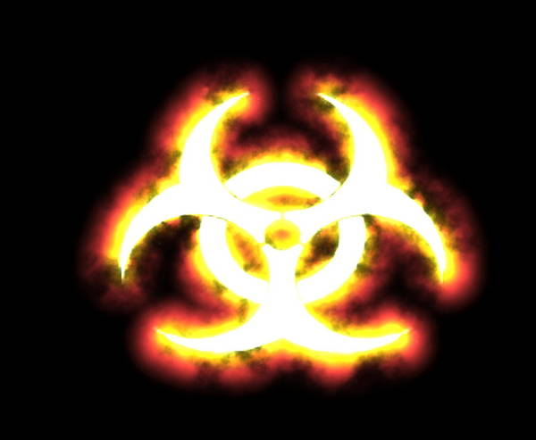 Symbol Poster featuring the photograph Biohazard Sign by Christian Darkin