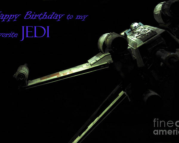 Star Wars Poster featuring the photograph Birthday Card by Micah May