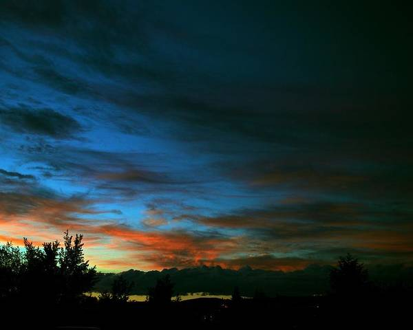Sunset Poster featuring the photograph Black And Blue by Kevin Bone