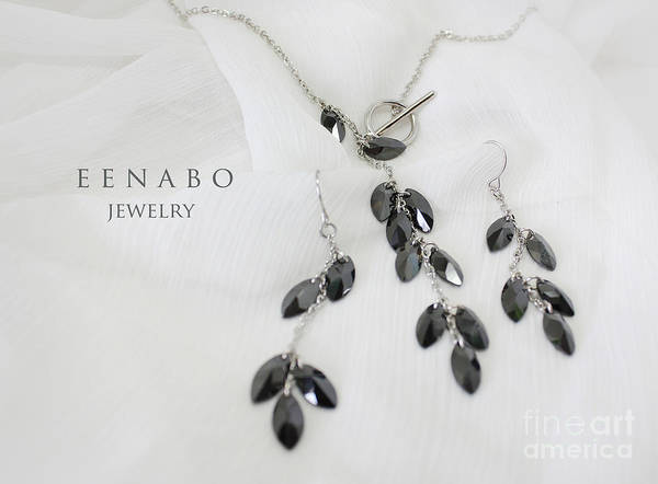 Jewelry Poster featuring the photograph Black Zircon by Eena Bo