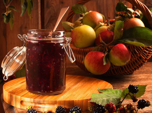 Apple Poster featuring the photograph Blackberry And Apple Jam by Amanda Elwell