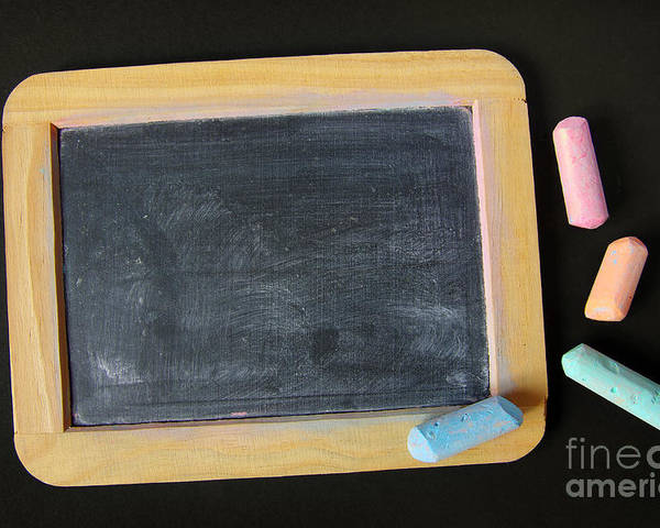 Abc Poster featuring the photograph Blackboard Chalk by Carlos Caetano