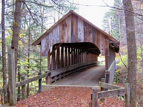 Nh Poster featuring the photograph Blacksmith Shop Covered Bridge by Wayne Toutaint